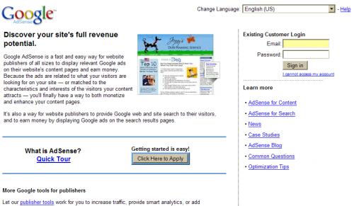 Alleba Blog » Google Adsense Homepage Makeover