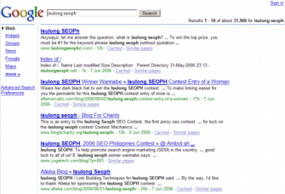 6 9 6 google results isulong seoph