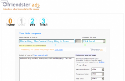 friendster ads