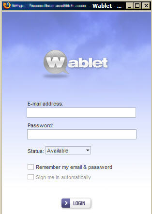 wablet sign in