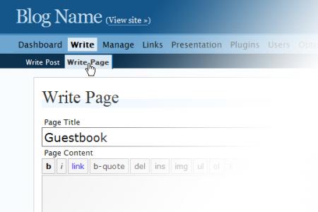 write page