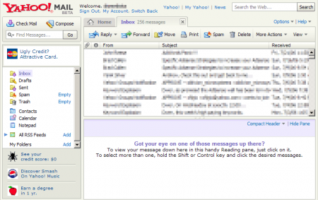 yahoo beta interface 2