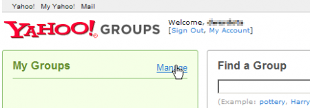 yahoo groups manage