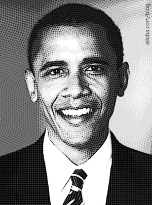 Barack Obama Hedcut